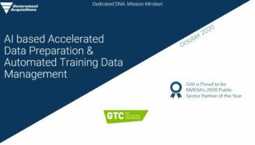 AI based Accelerated Data Preparation & Automated Training Data